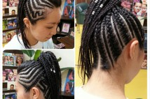 Ponytail Cornrows★
